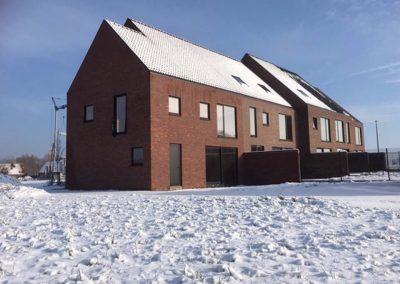 Project Langwater - januari 2019 - halfopen woning in aanbouw