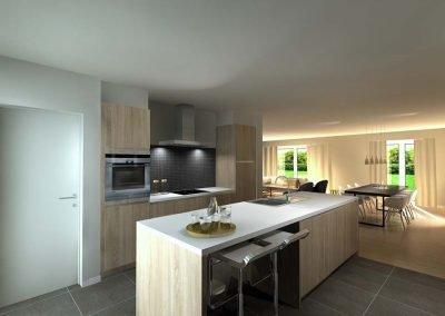 Voorbeeld keuken nieuwbouwproject
