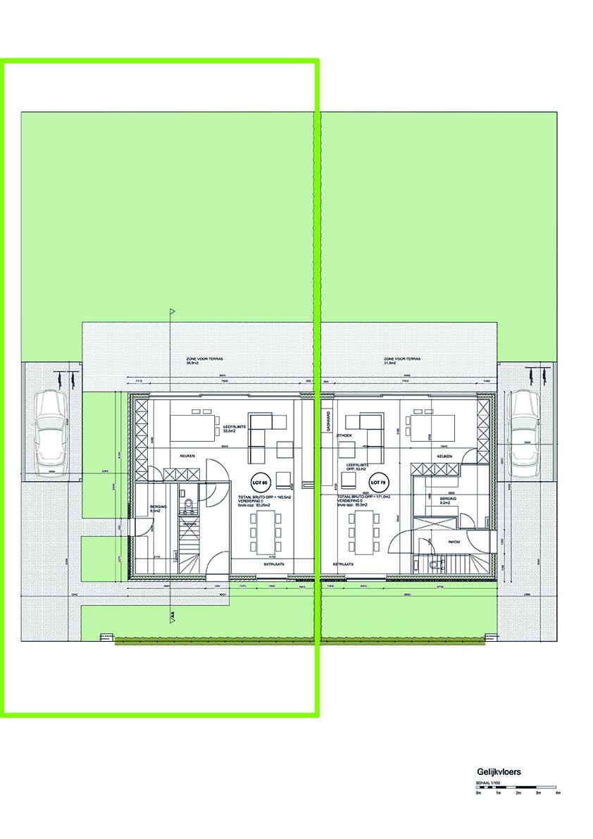 Lot 80 - plan gelijkvloers - Langwater